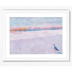 PTM Images Pelican On The Beach Framed Wall Art