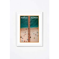 PTM Images The Bay From The Sky Framed Wall Art