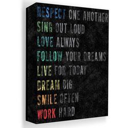 PTM Images 20'' Respect Chalk Canvas Wall Art