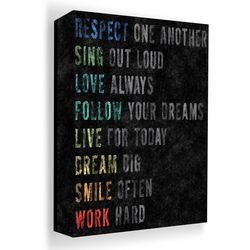 PTM Images 40'' Respect Chalk Canvas Wall Art