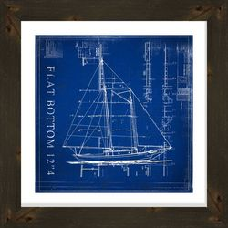 PTM Images Flat Bottom Blueprint Framed Wall Art