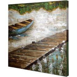 StyleCraft Boat Dock Wooden Slat Panel Wall Art