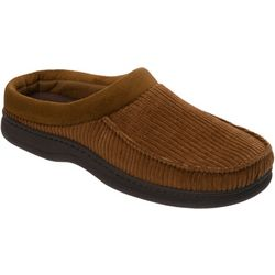 Dearfoams Mens Corduroy Clog Slippers