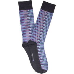 TailorByrd Mens Broken Stripe Crew Socks