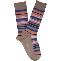 TailorByrd Mens Varied Stripe Crew Socks
