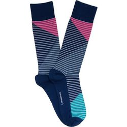 TailorByrd Mens Colorblock Crew Socks