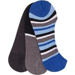 TailorByrd Mens 3-pk. Stripe Foot Cover Socks