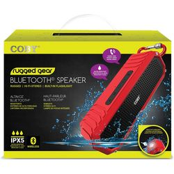 Coby Rugged Gear Colorful IPX5 Bluetooth Speaker