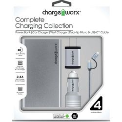 Chargeworx 4-pc. Complete Charging Collection Kit