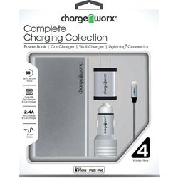 Chargeworx 4-pc. Apple Complete Charging Collection Kit