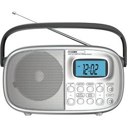 Coby Portable AM/FM Stereo Alarm Clock