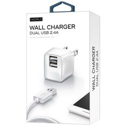iWorld Dual USB 2.4A Wall Charger