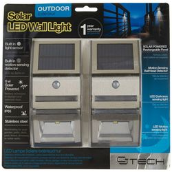 CJ Tech 2-pk. Outdoor Solar LED Wall Light
