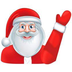 Snag Santa Waving Arm Decal
