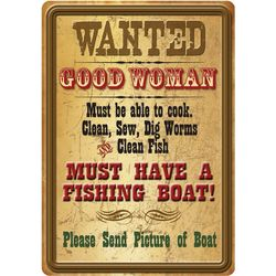 Rivers Edge Good Woman Tin Sign