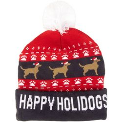 Wembley Holiday Happy Holidogs Light-Up Beanie