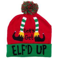 Wembley Mens Let's Get Elf'd Up Light- Up Beanie Hat