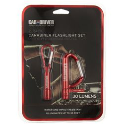 Car and Driver Carabiner Flashlight Set