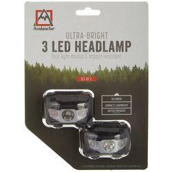 Avalanche 2-pk. Ultra-Bright 3 LED Headlamp