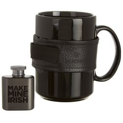 Black Smith Irish Coffee Mug & Flask with Holder Set