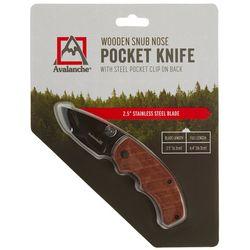 Avalanche Wooden Snub Nose Pocket Knife