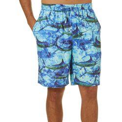 Reel Legends Mens Marlin Stripe Pajama Shorts
