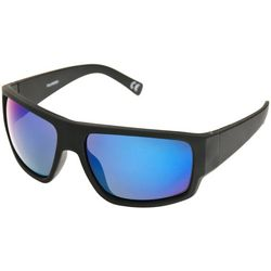 9d8bdd3120 Reel Legends Mens Black   Blue Wrap Sunglasses