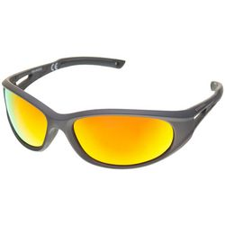 Reel Legends Mens Plastic Polarized Wrap Sunglasses