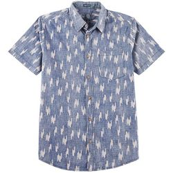 Black Jack Mens Houndstooth Chambray Short Sleeve Shirt