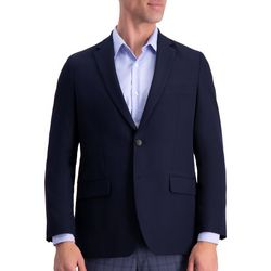 Haggar Mens Active Series Solid Gab Blazer