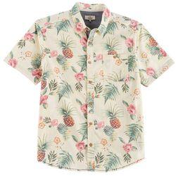 Burnside Mens Tropical Floral Print Shirt