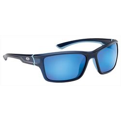 Flying Fisherman Mens Cove Matte Navy Mirror Sunglasses