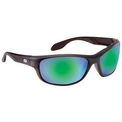 Flying Fisherman Mens Cayo Amber Green Mirror Sunglasses
