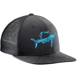 Flying Fisherman Mens Sailfish Black Fitted Trucker Hat