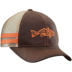 Flying Fisherman Mens Redfish Chocolate Trucker Hat