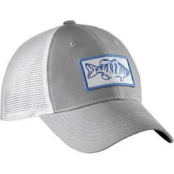Flying Fisherman Mens Bass Grey Trucker Hat