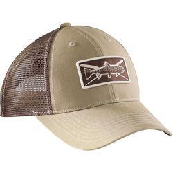 Flying Fisherman Mens Trout Khaki Trucker Hat