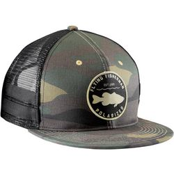 Flying Fisherman Mens Bass Patch Flatbill Camo Hat