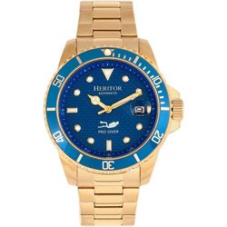 Heritor Automatic Mens Lucius Blue Bracelet Watch