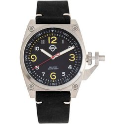 Shield Mens Pascal Leather Band Watch