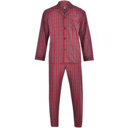 Hanes Mens Ultimate Plaid Woven Pajama Set