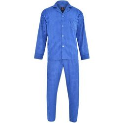 Hanes Mens Ultimate Check Woven Pajama Set