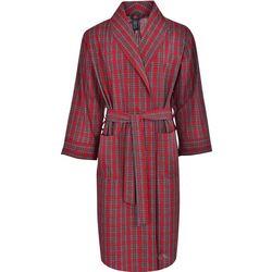 Mens Ultimate Plaid Woven Shawl Robe