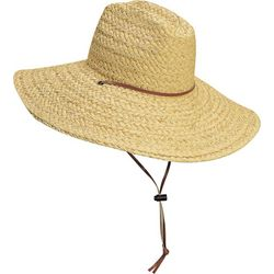 Scala Mens Lifeguard Straw Hat With Chin Cord
