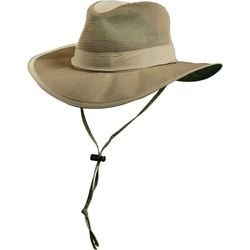 Dorfman Pacific Mens Supplex Mesh Safari Hat