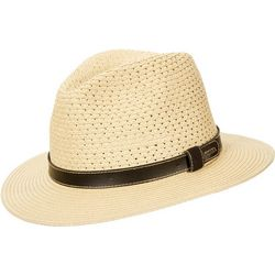 Scala Mens Paper Braid Fedora Hat