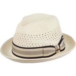 Scala Mens Paper Braid Vented Crown Fedora Hat