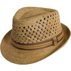 Tommy Bahama Mens Crocheted Raffia Fedora Hat