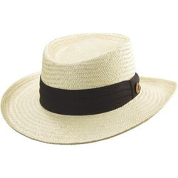 Tommy Bahama Mens Straw Gambler Hat
