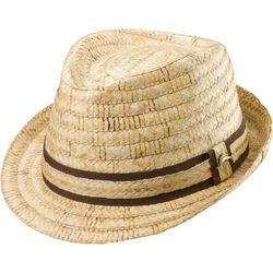 Tommy Bahama Mens Burned Raffia Fedora Hat